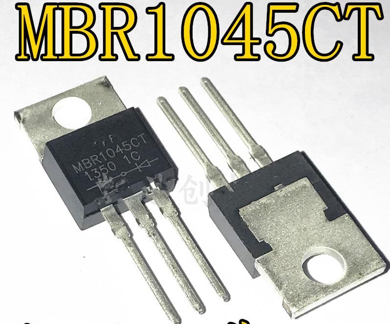 50 шт./лот MBR1045CT 10A 45V TO-220-220 В наличии лучшее качество