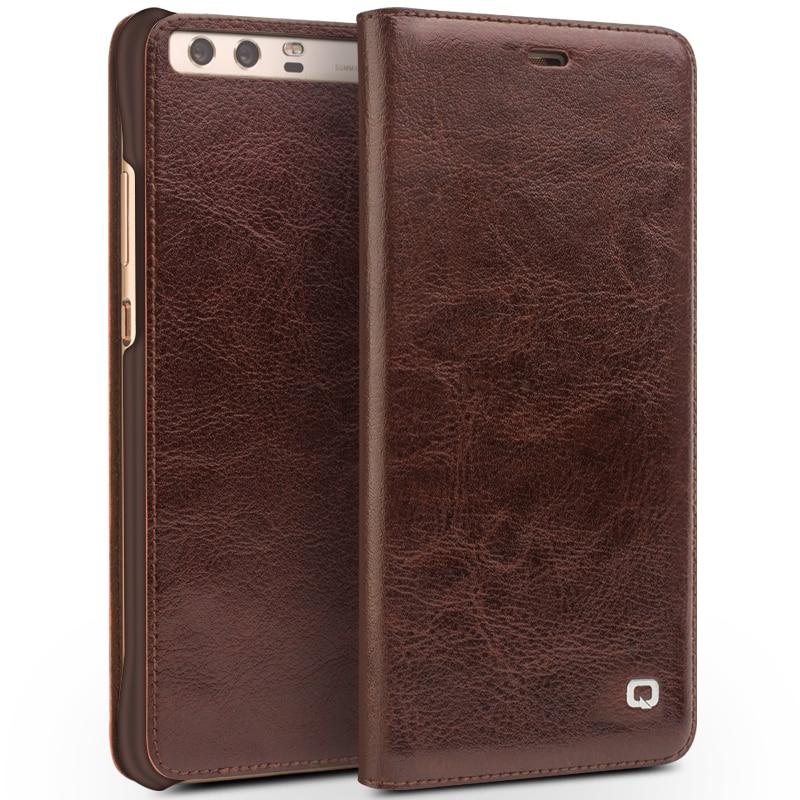 QIALINO BARU Kasus untuk Huawei Ascend P10 ditambah Mewah Kulit Asli - Aksesori dan suku cadang ponsel - Foto 5