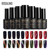 ROSALIND Nail Polish 7ml Soak Off Starry Cat Eye Hybrid Gel Nails Polish Primer Top Coat UV Colors For Manicure Accessoires