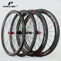 700C Carbon Fiber Wheels Road Bike Bicycle Carbon Road Wheelset V/C Brake Profile 38 40 50 55mm clincher carbon Rim direct pull