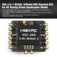 20A 4 in 1 2-4S BLHeli_S/Dshot 600 Oneshot ESC Elektronische Speed Controller für RC Racing drone Quadcopter Zubehör ht