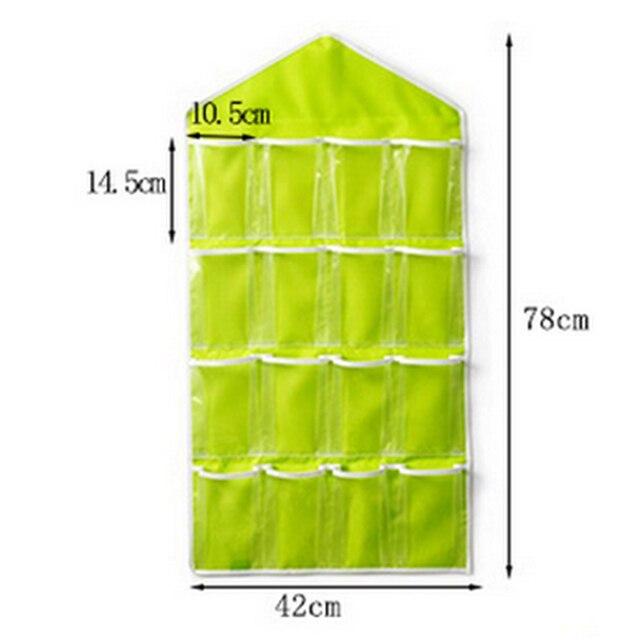 16 Pockets Foldable Wardrobe Hanging Bags Socks Briefs Organizer Clothing Hanger Closet Shoes Underpants Storage Bag