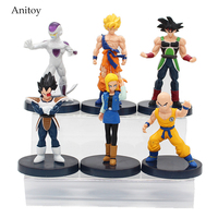 6pcs Set Japanese Anime Dragon Ball Z Gokun Vegeta Freeza PVC Action Figures Model Dolls Toys