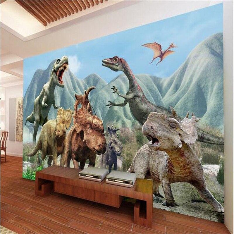 3d large wall mural wallpaper hd jurassic dinosaur for Dinosaur mural wallpaper