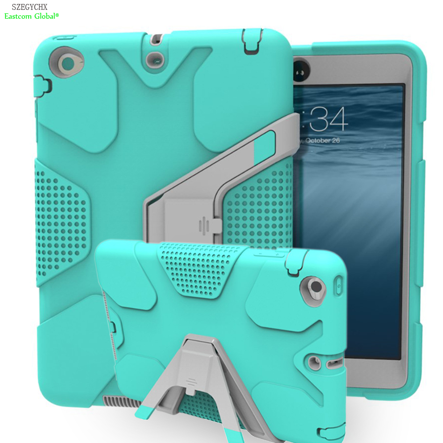 SZEGYCHX Tablet Case For iPad Air 2 EVA Heavy Duty Shockproof Hybrid Rubber Rugged Hard Protective Skin Safe Shell Cover Case tablet case for ipad air 2 a1567 extreme heavy duty shockproof rubber cover with stand hard cover case for ipad pro 9 7 inch