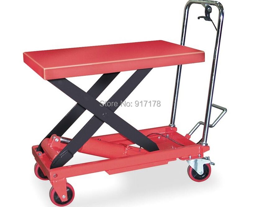 300kg scissor lift table cart  цены