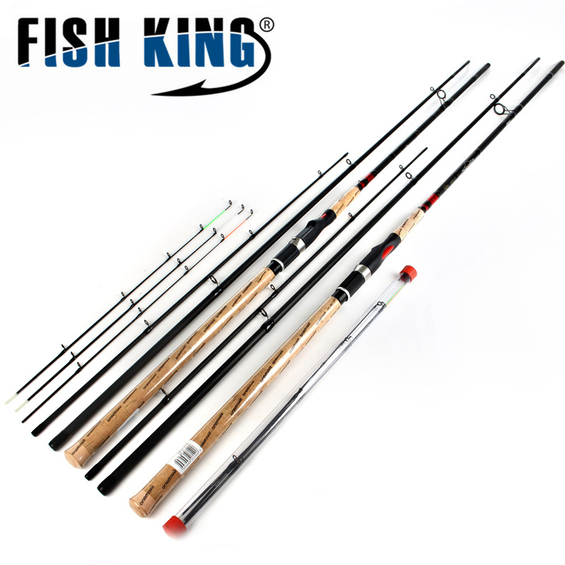 FISH KING Feeder Rod 4 Sections High Carbon Super Power Fishing Rod CW40-120g L M H 3.6M 3.9M Lure Feeder Fishing Rod Feeder Rod brand new smt yamaha feeder ft 8 2mm feeder used in pick and place machine