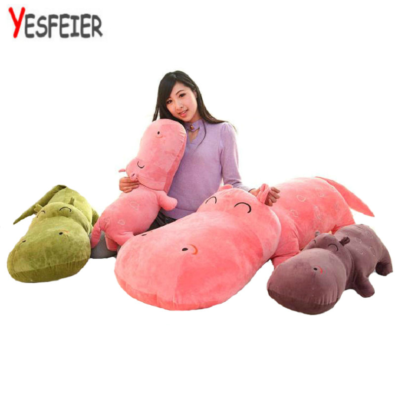 1 piece small size 50 cm hippopotami doll sleeping pillow cute super large stuffed plush toy cloth doll baby child birthday gift stuffed animal 44 cm plush standing cow toy simulation dairy cattle doll great gift w501