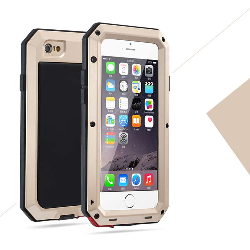 Hot Luxury Shockproof Waterproof Powerful Protection Aluminum Glass Metal Cover Cell Phone Case For iPhone 5