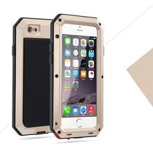 Hot!Luxury Shockproof Waterproof Powerful Protection Aluminum Glass Metal Cover Cell Phone Case For iPhone 5 5s retail packaging