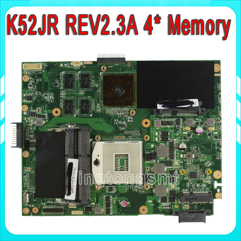 Original K52JU K52JR laptop motherboard for ASUS HD 6370M 1GB HM55 Chipset REV2.3A DDR3 4 Memory 100% tested ju m chrysanthemum tea herbal tea stone ju m premium ju m 50g