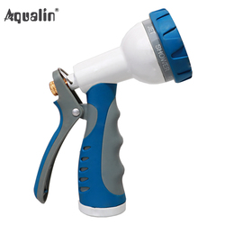 Garden 8 Adjustable Watering Patterns Turret Pistol Aluminum Turret Pistol Hose Spray Nozzle Car Wash  Water Spray Gun#23217