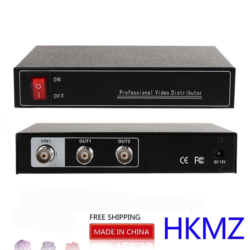 YiiSPO AHD Video Distributor/Splitter,1 input 2 output, 2 Ch 2MP/1MP AHD/CVI/TVI Bnc Input/Output, support DC 12V in 2 to 4 video splitter hd video distributor bnc 2 input 4 output support hd ahd cvi tvi camera in