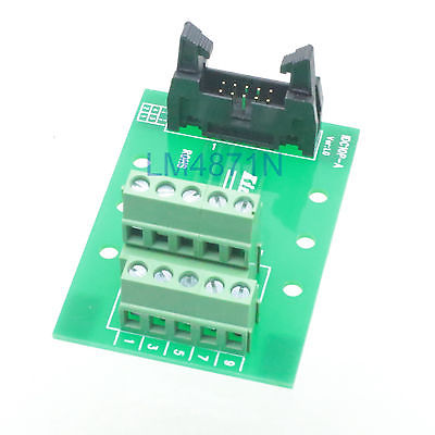 Hot Factory Direct Wholesale IDC10 male plug 10pin port header Terminal Breakout PCB Board block 2 row screw