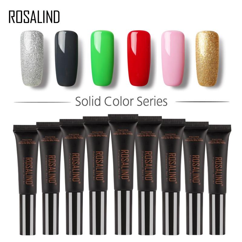 ROSALIND 1 Gel Gel Unha Polonês 8 ml 31-58 Série LED UV Laca Pode Ser Embeber Off DIY resina Pintura de Unhas de Gel Verniz