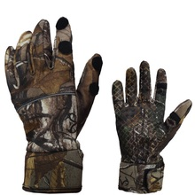Camouflage Full Finger Hunting Gloves Windproof Anti Slip Cycling Fishing 2 Fingers Cut Outdoor Sport Men Camo