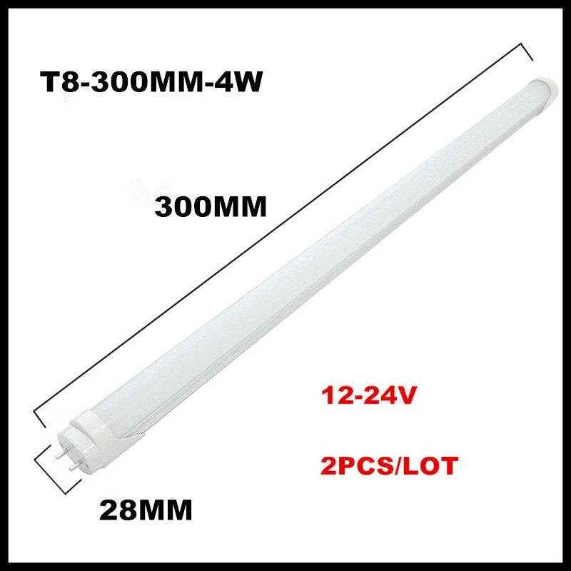 2 шт./лот DC12-24V T8 светодиодные трубки 0.45 м трубки 1.5FT 6 Вт 1FT 300 мм 4 Вт led флуоресцентные трубки 2835SMD T8 приспособление светодиодные трубки