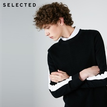 SELECTED 100% Cotton  O Neck Pullover Sweater Mens Assorted Colors Knitted Clothes S