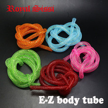 Royal Sissi 5yars/Set 5Colors Mixed EZ braid Tubing 8mm fly tying Mylar tubes Iridescent EZ body Tube Minnow fish Tying Material