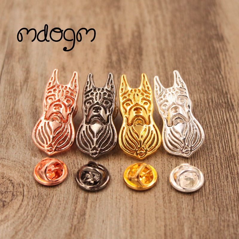 Mdogm 2018 Boxer Dog Animal Brooches And Pins Suit Cute Metal Funny Small Father Collar Badges Shirt Gift For Male Men B080