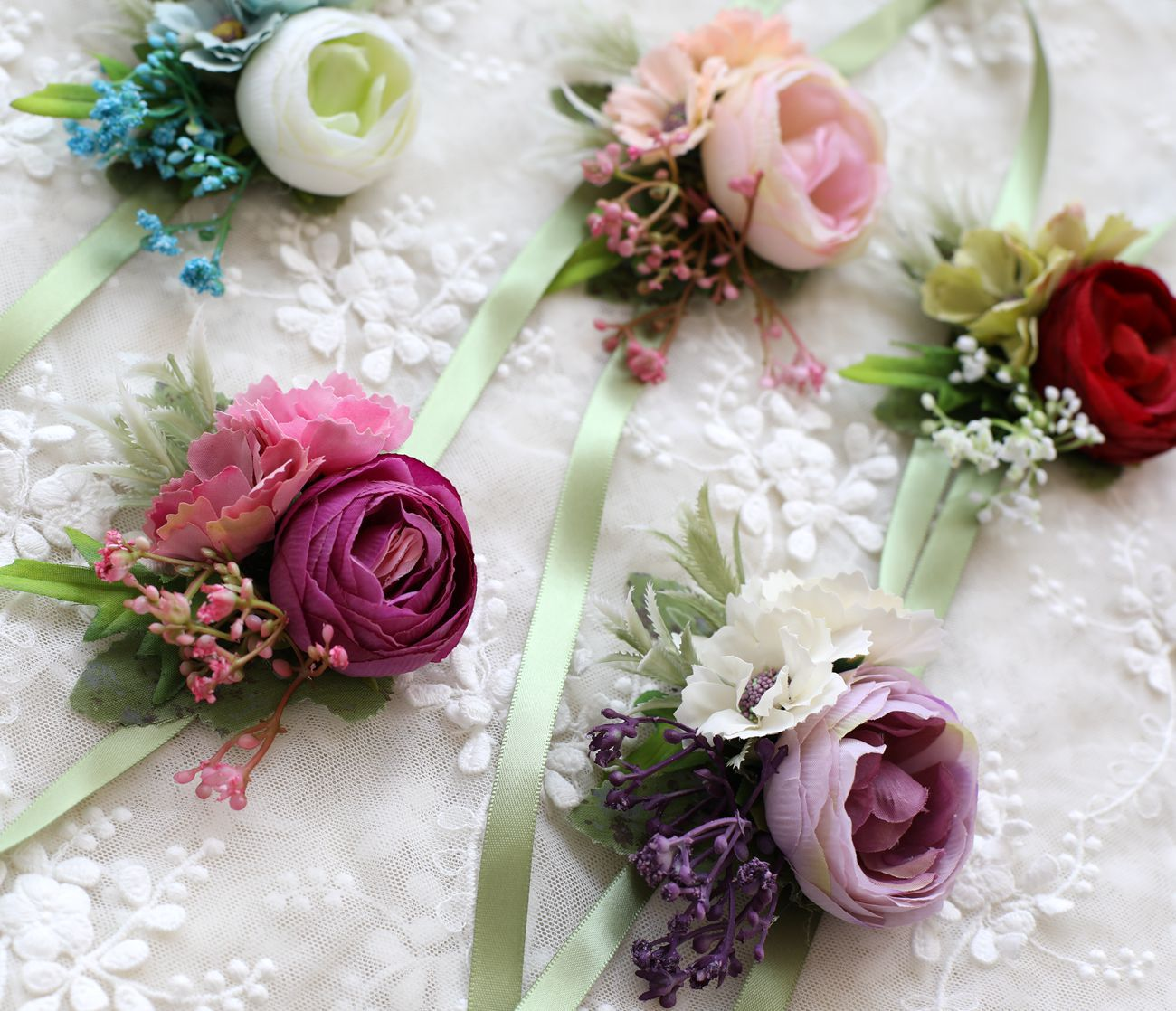 Hand Wrist Flower Purple Flower Bracelet For Bridesmaids Wrist Corsage Pearls Girls Corsage Wrist Corsage Bracelet Flowers Pink