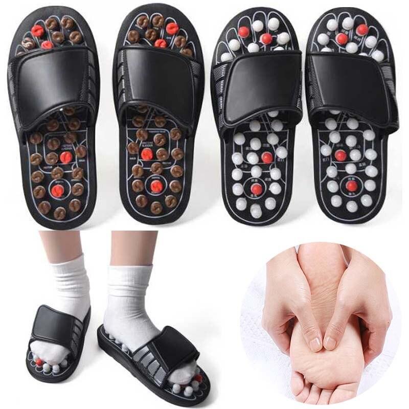 Massagem Nos pés Chinelos Sapatos Pé Acuponto Acupuntura Terapia Massageador spine Cuidados Com Os Pés Massageador shiatsu Reflexologia Sandália