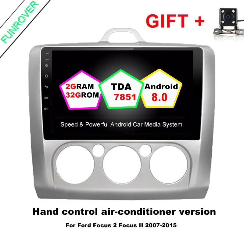 2 din Android 8.0 auto dvd radio video-player 2G + 32G 9 zoll für Ford Focus 2004-2011 wifi BT navigation Quad-Core karte 4G FM RDS
