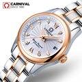 Женские Механические часы Carnival switzerland sapphire  роскошные брендовые водонепроницаемые часы из натуральной кожи  женские часы reloj bayan kol saati
