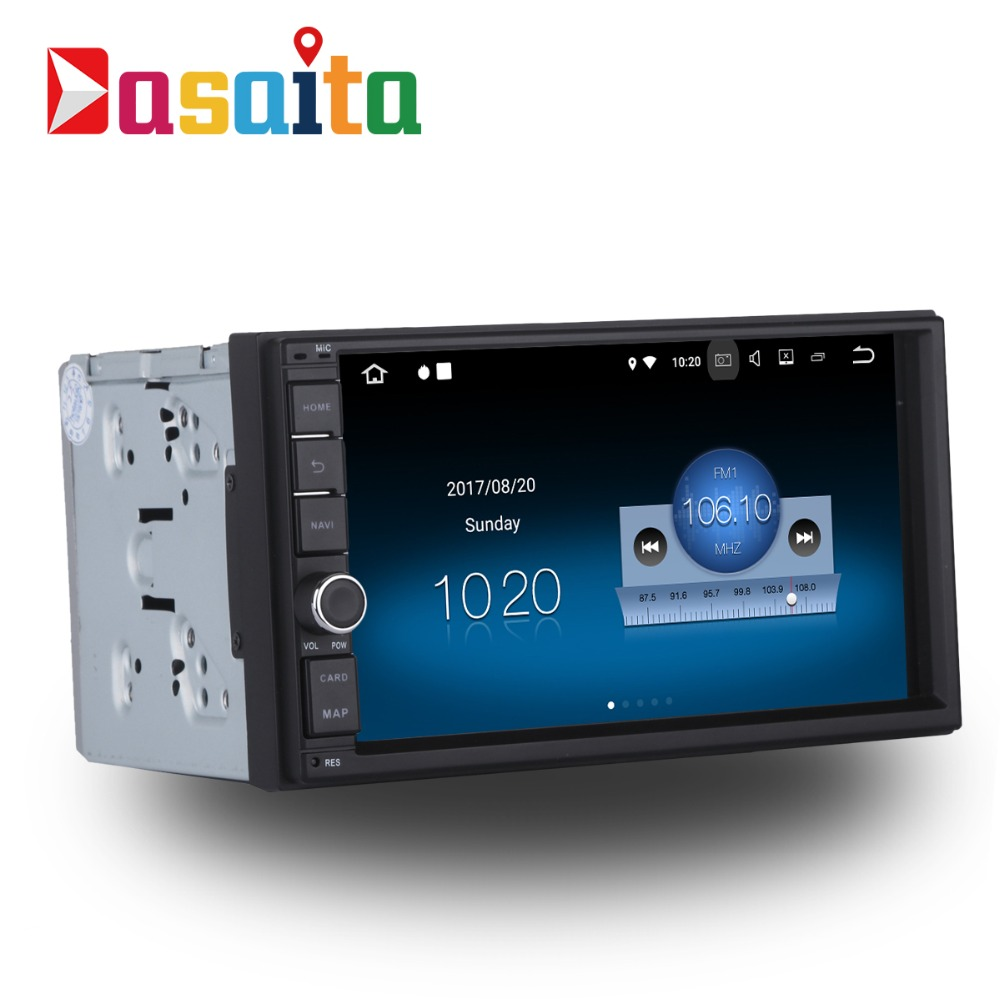 Dasaita 7 Android 7.1 Car GPS Player Navi for Universal 2 DIN with 2G+16G Quad Core Car Stereo Multimedia No DVD Bluetooth DAB+ car 2 din octavia android 7 1 7 inch car dvd for skoda octavia 2 a5 2006 2012 with 2g 16g wifi canbus octavia2 dab obd