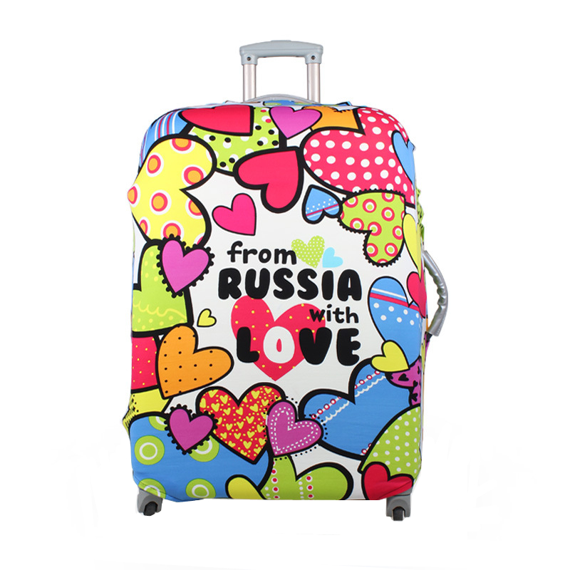 Waterproof Love Heart Travel Elastic Luggage Cover Trolley Suitcase Student Kid Protect Dust Case Accessories Supplies Product