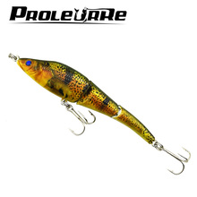 1Pcs 10cm 9g Minnow Fishing Lures 3 Sections full swimming layer Hard Bait Wobblers Swimbait Crankbait Crazy fishing Tackle
