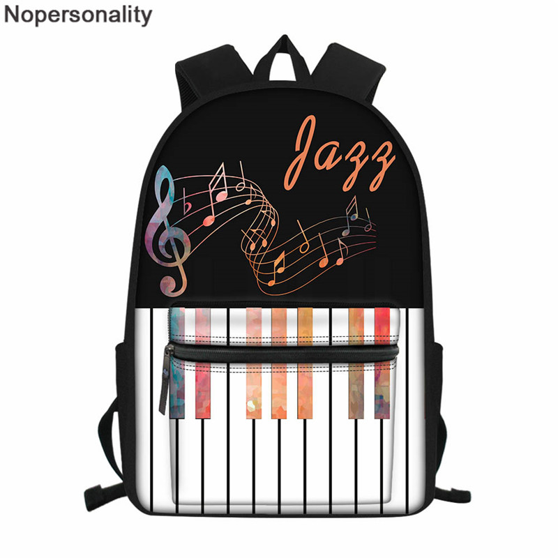 Nopersonality Music Note Piano Print Women Backpack Teenager Girls Shoulder Bagpack Female Casual Shoulder Bag Daypack Mochila