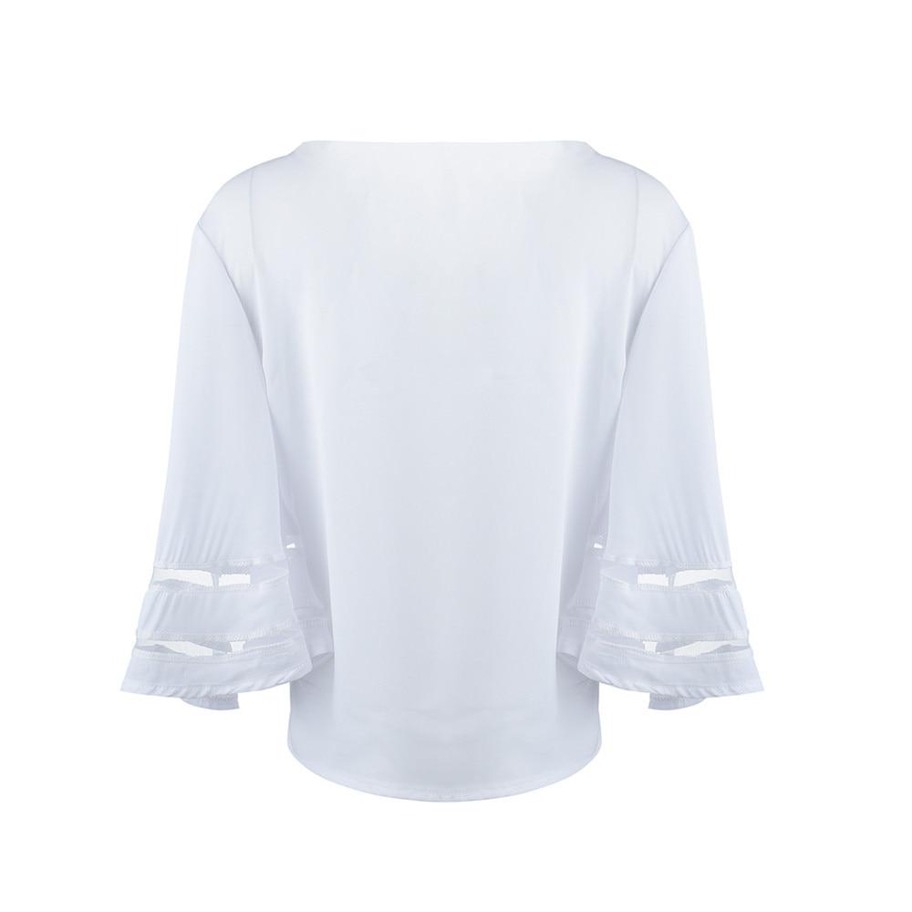 Mujeres Jersey De Negro rojo Blanca Yl5 Cielo Corta Manga blanco Femenina Blusas O Sudadera Blusa Camisa 2019 Cuello azul rosado Y Tops Mujer gwXY7X