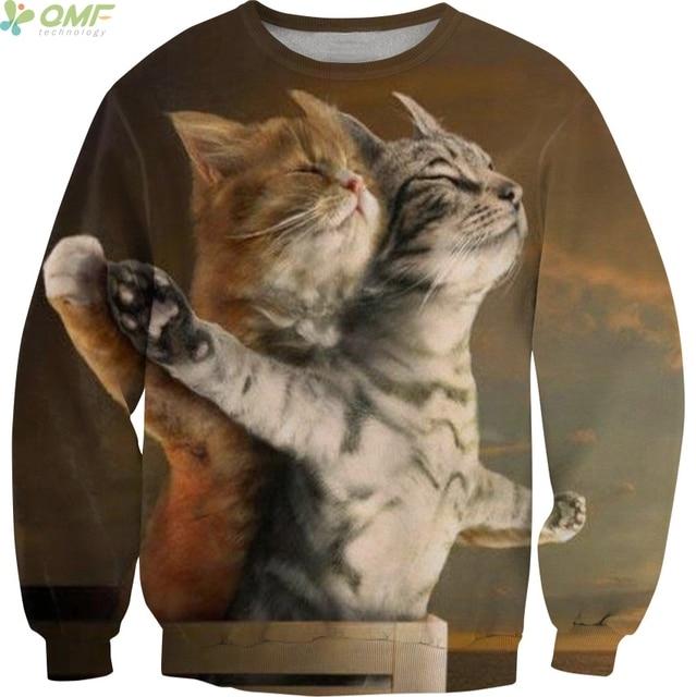 parodie lustige katzen titanic 3d druck manner sweatshirt mode lassig pullover crewneck solid hoodie cute raum