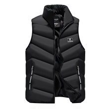 2019 Vest Men Thick Waistcoat Windbreak Casual Style Quality Solid Slim Fit Atumn Winter Sleeveless Jacket Brand Clothing M-4XL(China)