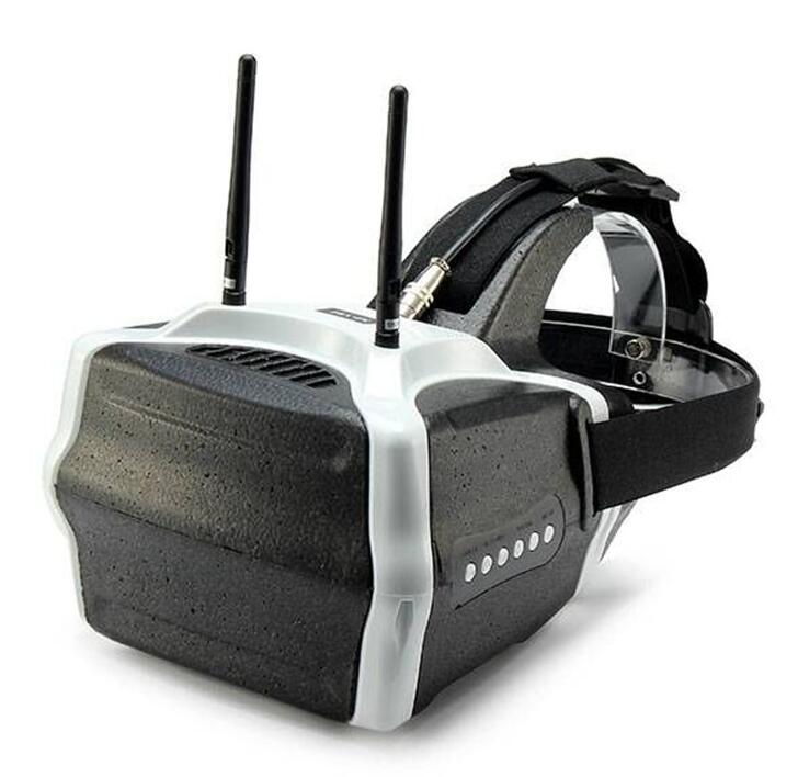 SJ-V01 5.8G 40CH FPV Video Goggles 7 Inch 1280x800 HD Headplay Glasses With HDMI Input Built-in Speaker