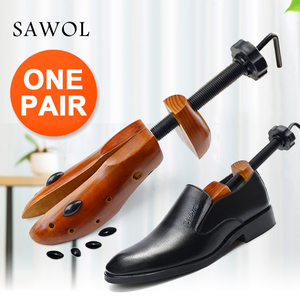 Image 1 - Shoe Tree 1 Pair Wooden For Men And Women Shoes Expander Shoes Width And Height Adjustable Shoe Stretcher Shaper Rack Sawol