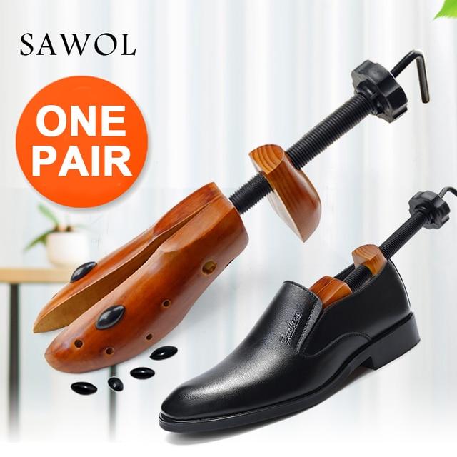 Árbol de zapatos 1 par de zapatos de madera para hombres y mujeres zapatos expansores ancho y altura ajustable Zapatero Shaper Rack Sawol