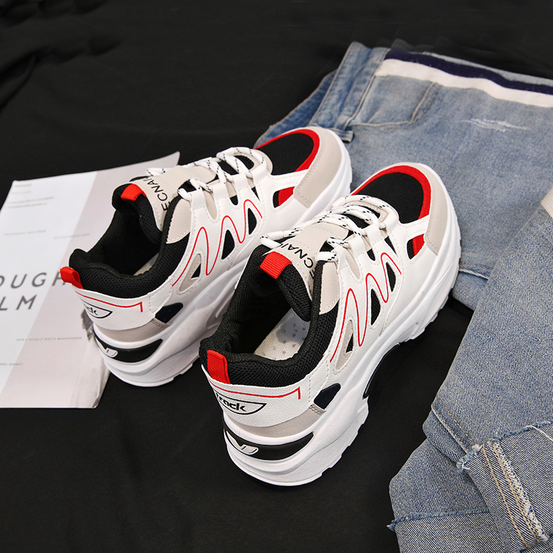 YeddaMavis Daddy Shoes Women Sneakers Women Shoes 2019 Summer 4CM Lace Up Platform Sneakers Womens Shoes Woman Running Shoes in Women 39 s Vulcanize Shoes from Shoes