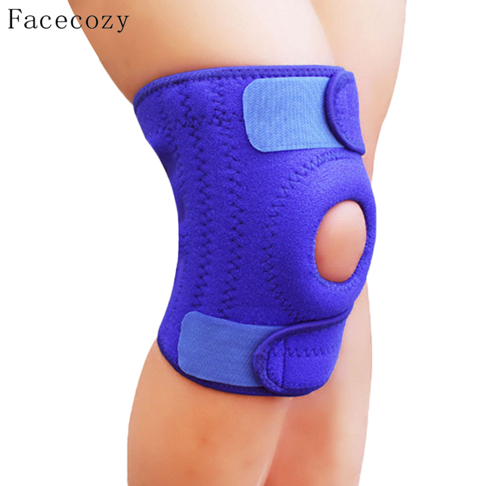 Facecozy Unisex 4 Springs Support Climbing Kneepad Prevent Joint Injury Knee Guard Outdoor Sports Cycling Protector Knee Cap
