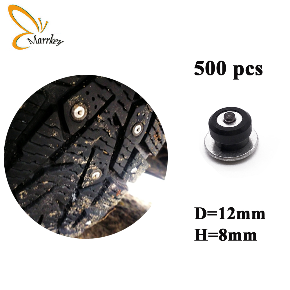 Marrkey 500PCS 8mm Winter Tires Studs Ice Spikes for Tires Screw Snow Chains Studs Wheel Tyre