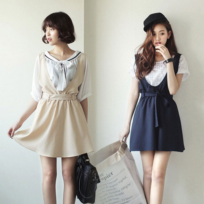 Elegant Home Gt Dresses Gt Short Sleeve Dress Gt Korea Women Flouncing Knitting