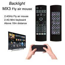 2,4 г подсветка гироскоп Fly Air mouse беспроводная клавиатура Пульт дистанционного управления датчик движения игра ИК обучающая кнопка для ПК ТВ коробка MX3B