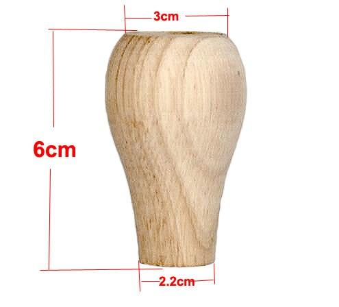 Купить с кэшбэком 4Pieces/Lot H:60MM   Solid Wood Cabinet Table Foot Mat Ball Furniture Legs