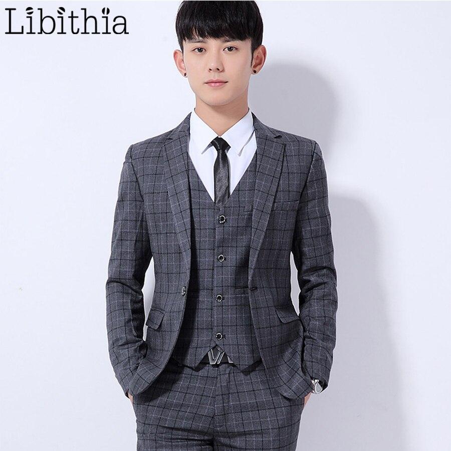 Aliexpress.com : Buy (Jakcet Pant) Men's Wedding Dress Suit Plaid ...