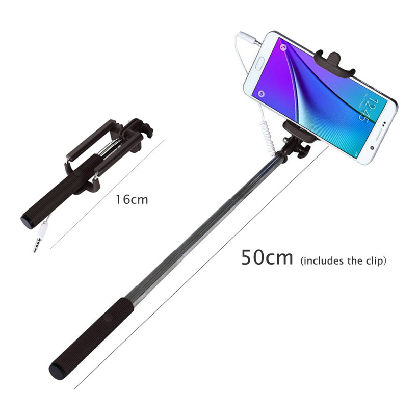 Advanced 2017 New  Selfie Sticks 8 Colours 1PC Mini Extendable Handheld Fold Self-portrait Stick Holder Monopod