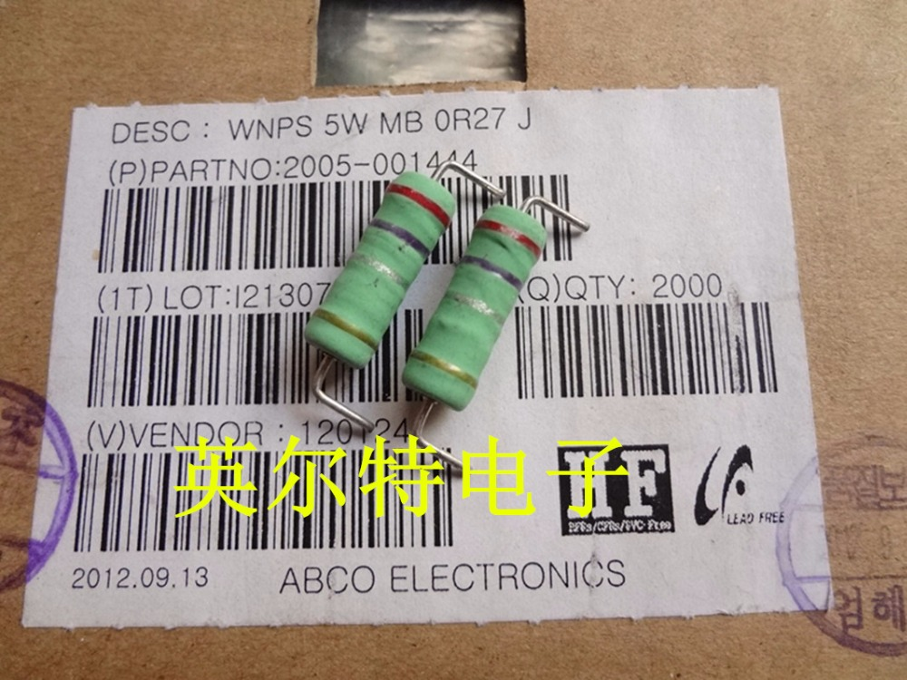 Original new 100% South Korea import wire wound inductive resistor 5W0.27R 5W0.27Ohm small volume high power (Inductor)
