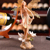 Beautiful Girl Creative Gifts Resin Angel Ornaments Artificial Home Decor Miniature Flower Fairy Figurines Wedding Decor Crafts