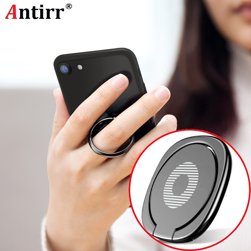 360 Degree Rotating Metal Finger Ring Holder Smartphone Car Bracket Mobile Phone Desk Round Stand Cable Winder for Xiaomi Huawei smartphone