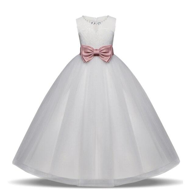 Baby Girl First Communion Dress White Tulle Dresses For Wedding